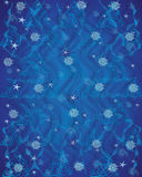 Blue pattern sign of harmony Celts, snowflake waves and circles Royalty Free Stock Images