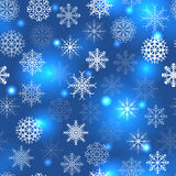 Blue pattern with snowflakes Royalty Free Stock Images