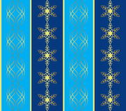 Blue pattern with snowflakes - vector Stock Images
