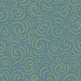 Blue pattern with swirl. stock photography