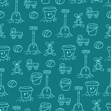 Blue pattern with toys Stock Images