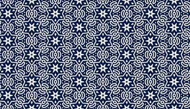 Blue Pattern With Stars Stock Photo