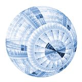 Blue Patterned Bubble Royalty Free Stock Image