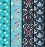 Blue patterned dress Royalty Free Stock Photo
