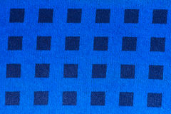 Blue patterned fabric Royalty Free Stock Image
