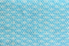 Blue patterned fabric. Royalty Free Stock Images