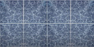 Blue patterned floor tiles. Royalty Free Stock Photo
