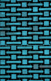 Blue patterned ornament on a parking garage. Weathered blue metal pattern on a parking garage in Las Vegas royalty free stock image