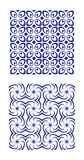 Blue patterned tiles Royalty Free Stock Image