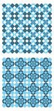 Blue patterns Stock Photo