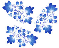 Blue  patterns  in the Gzhel style. Royalty Free Stock Images