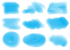 Blue patterns and textures. Illustration of the blue patterns and textures on a white background royalty free illustration