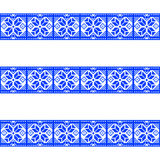 Blue patterns on a white background. Royalty Free Stock Photography