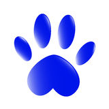 Blue paw Royalty Free Stock Photography