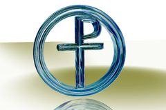 Blue Pax Christi sign Stock Photos