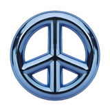 Blue Peace Sign Royalty Free Stock Photos