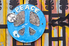 Blue Peace Sign Royalty Free Stock Photography