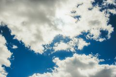 Blue peaceful sky stock photography