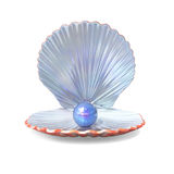 Blue Pearl in a Shell Royalty Free Stock Photo