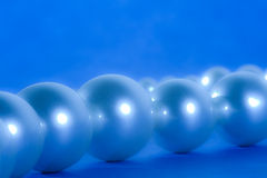 Blue pearls Royalty Free Stock Images