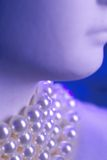 Blue pearls Royalty Free Stock Image