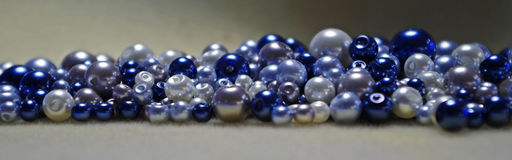 Blue pearls Stock Images