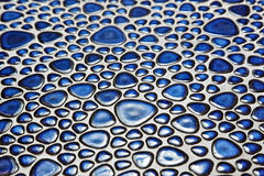 Blue pebble mosaic pattern Royalty Free Stock Photos