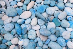 Blue pebbles Stock Images