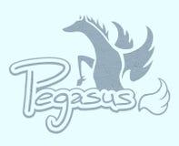 Blue pegasus symbol Royalty Free Stock Photos