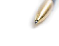 Blue pen Stock Image