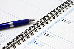 Blue pen Royalty Free Stock Images