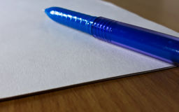 Free Blue Pen Royalty Free Stock Photos - 96571708