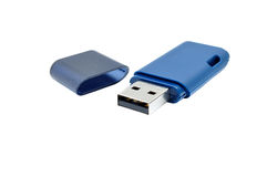 Blue pen drive Royalty Free Stock Photography