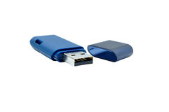 Blue pen drive Stock Photo
