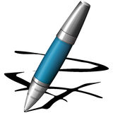 Blue pen Royalty Free Stock Photography
