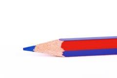 blue pencil在白色背景隔绝了 免版税库存照片