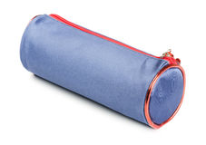 Blue pencil-case Royalty Free Stock Images