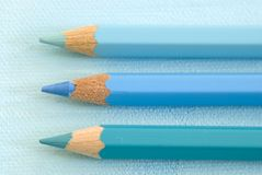 Blue Pencil Crayons  Stock Image
