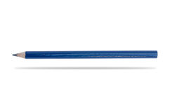 Blue pencil isolated on white Royalty Free Stock Images