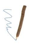 Blue pencil lokalisierte auf weißem Hintergrund. Lizenzfreie Stockbilder