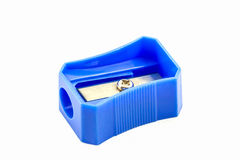 Blue pencil Sharpener. Stock Photo
