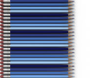 Blue Pencils Stock Photos