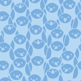 Blue penguines seamless pattern background Royalty Free Stock Image
