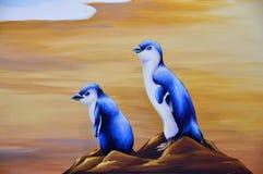 Blue penguins Royalty Free Stock Photos