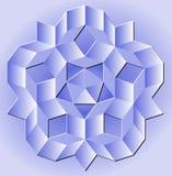 Blue Penrose Tiling Stock Images