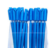 Blue pens Royalty Free Stock Image