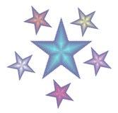 Blue Pentagrams Stock Image