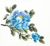 Blue peony flower royalty free stock photography