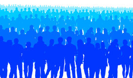 Blue people Royalty Free Stock Photos