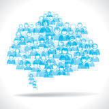 Blue people message cloud Stock Photography